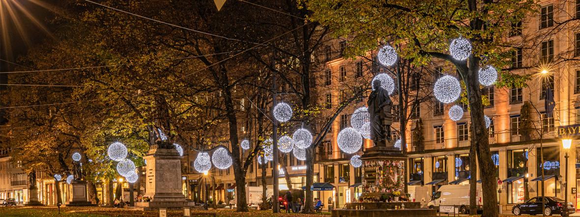 Promenadeplatz im Advent 2020, Foto: muenchen.de/Michael Hofmann