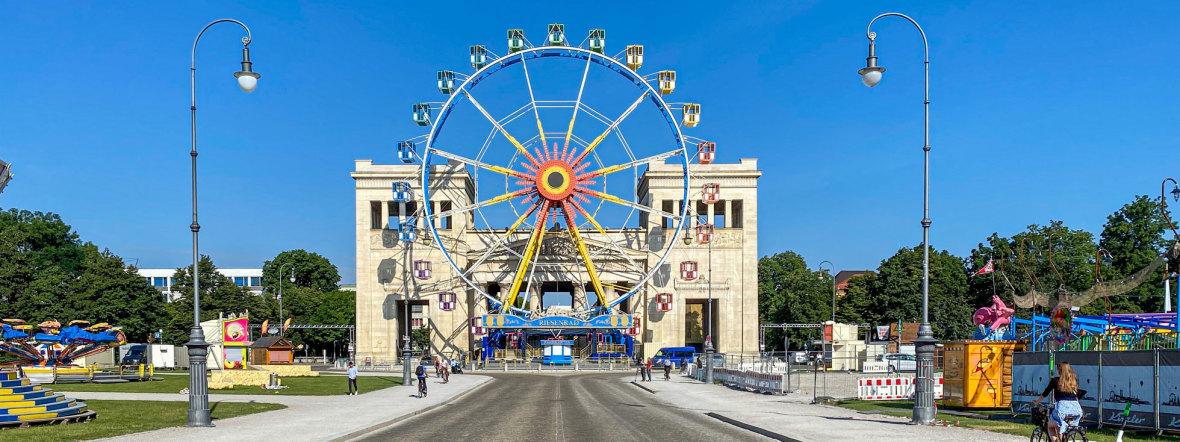 Königsplatz - Sommer in der Stadt, Foto: muenchen.de/Michael Hofmann