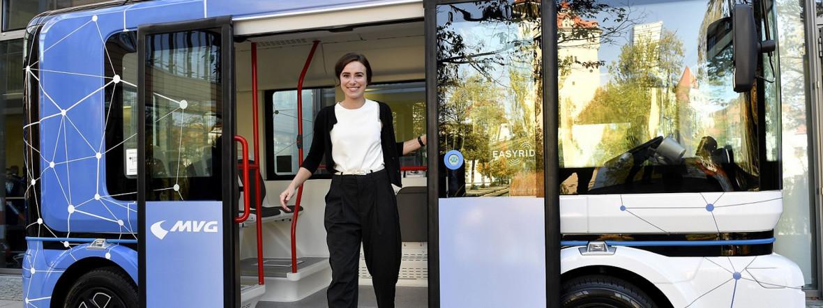 Projekt Easyride: Automatisierter Kleinbus, Foto: SWM/MVG