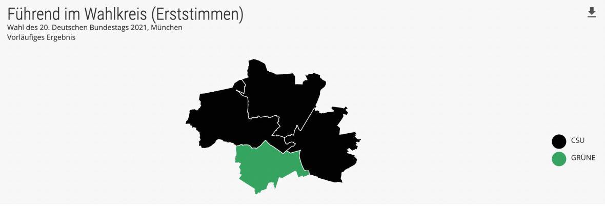 Die Ergebnisse in den Münchner Wahlkreisen im Überblick, Foto: wahlen-muenchen.de