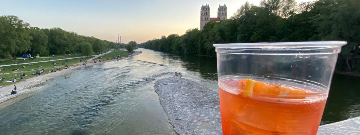 Alkoholverbot in München an der Reichenbachbrücke, Foto: Anette Göttlicher