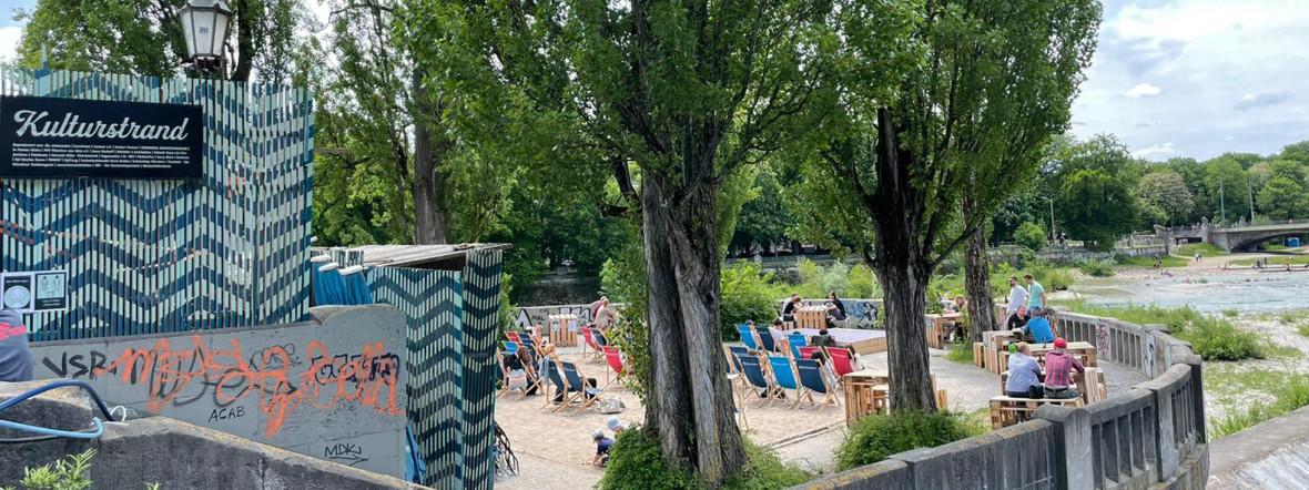 Kulturstrand an der Isar 2021, Foto: Sandra Strobl