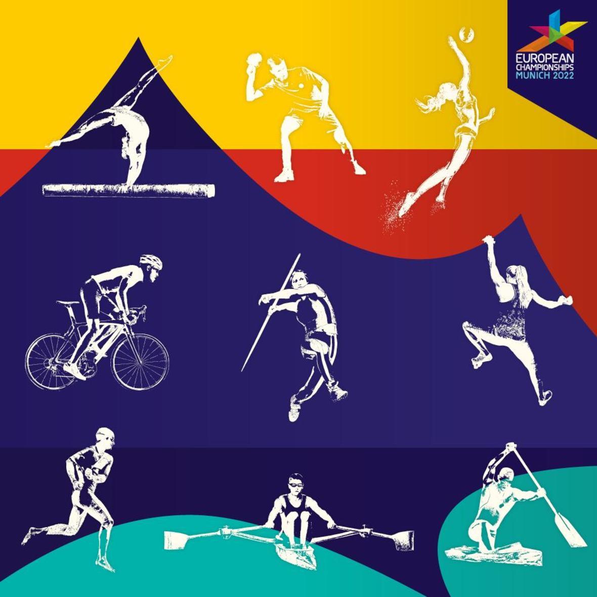 KeyVisual der European Championships Munich 2022, Foto: European Championships Munich 2022