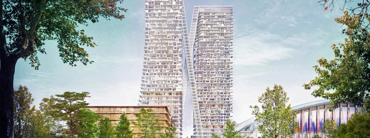 Zwei neue Hochhäuser fürs Paketpost-Areal geplant., Foto: Herzog & de Meuron