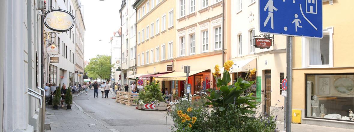 Die Westenriederstraße ist auch 2021 eine der Münchner Sommerstraßen., Foto: Michael Nagy/Presseamt München