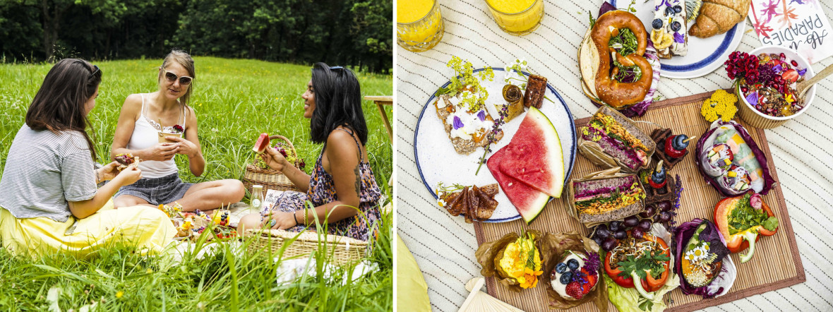 Gründerinnen von Bananaleaf beim Picknick , Foto: Petra Serbin