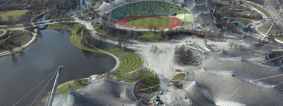 Coubertinplatz im Olympiapark, Foto: Olympiapark München