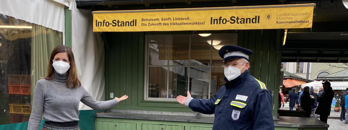 Neuer Stand der Marktaufsicht auf dem Viktualienmarkt, Foto: Kommunalreferat München