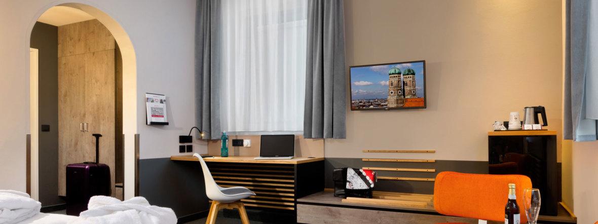Zimmer im Intercity Hotel München, Foto: Elan Fleisher