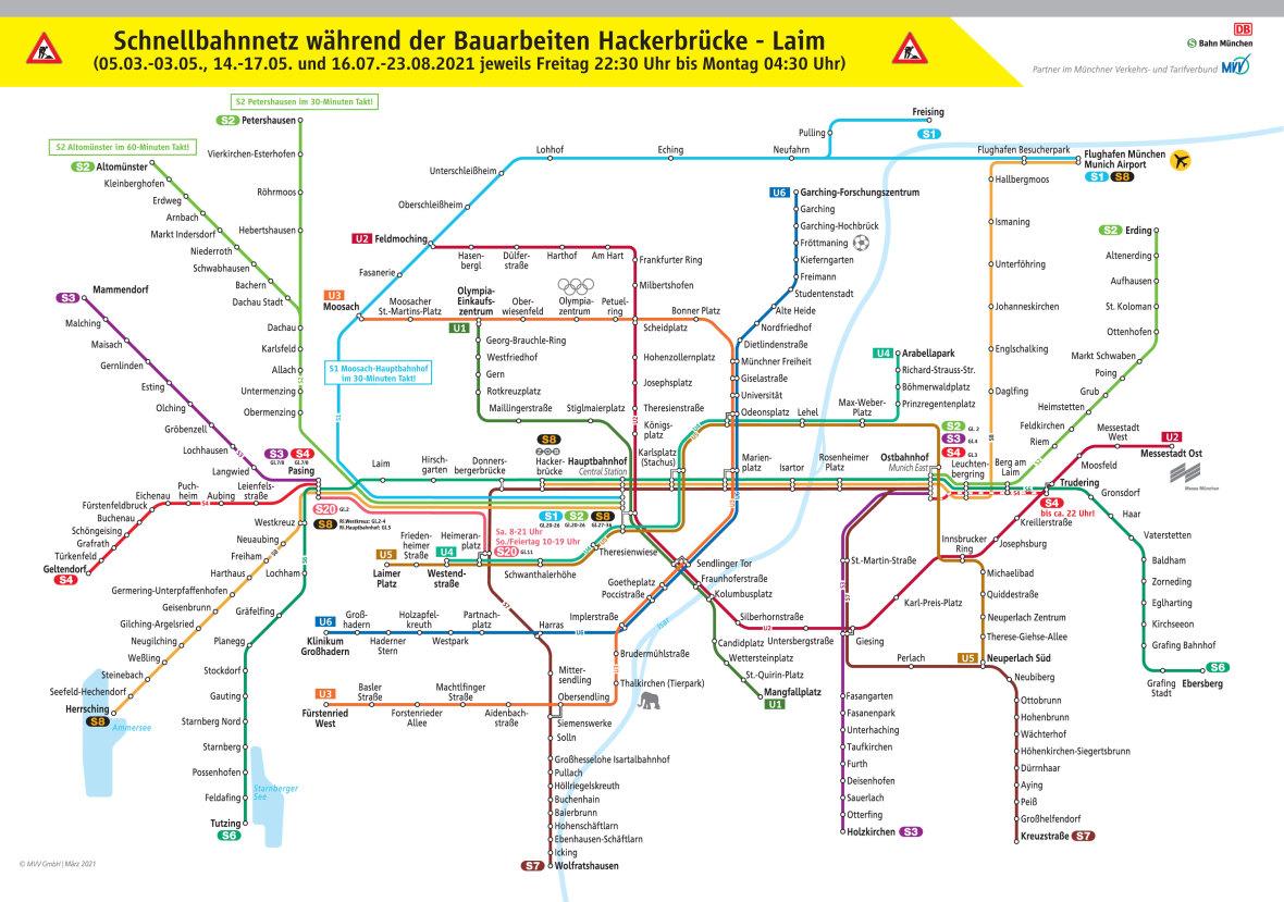 Überblick über Einschränkungen bei der S-Bahn 2021, Foto: Deutsche Bahn AG