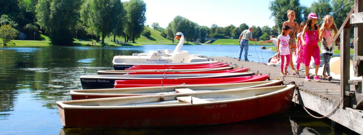 Bootsverleih am Olympiasee, Foto: Michael Neißendorfer