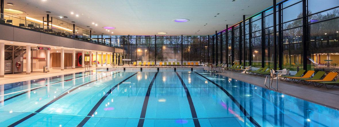 Die Schwimmhalle im Cosimawellenbad, Foto: SWM / Robert Götzfried