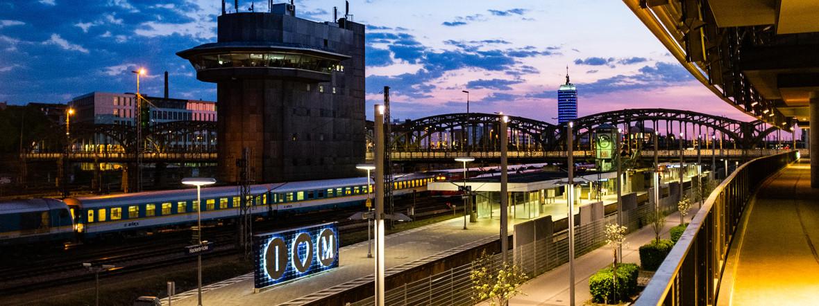 Die Hackerbrücke vom ZOB aus, Foto: Anette Göttlicher