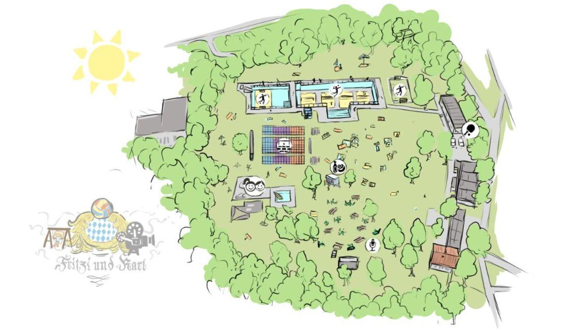 Übersichtsplan für das Gelände von Fritzi und Karl, Foto: Illustration: Heiko Krause