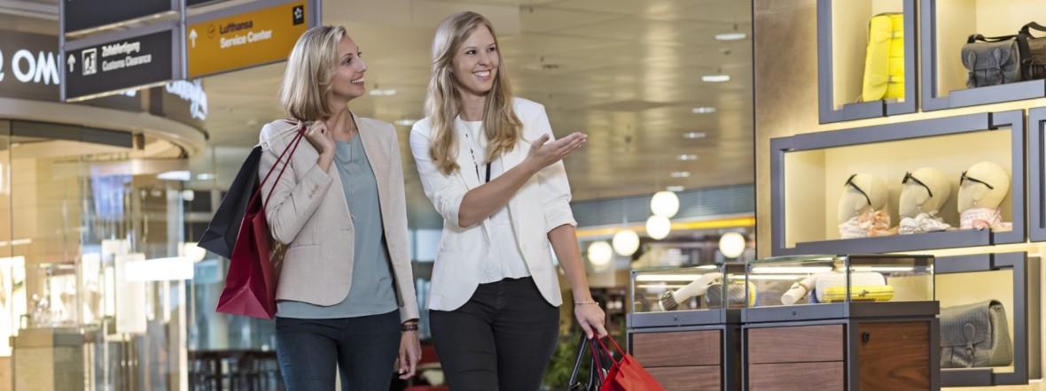 Shopping am Flughafen München, Foto: Flughafen München