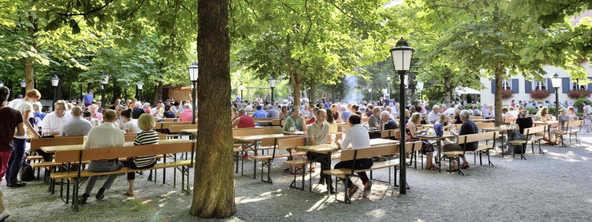 Biergarten zum Aumeister im Englischen Garten., Foto: muenchen.de/Falk Heller