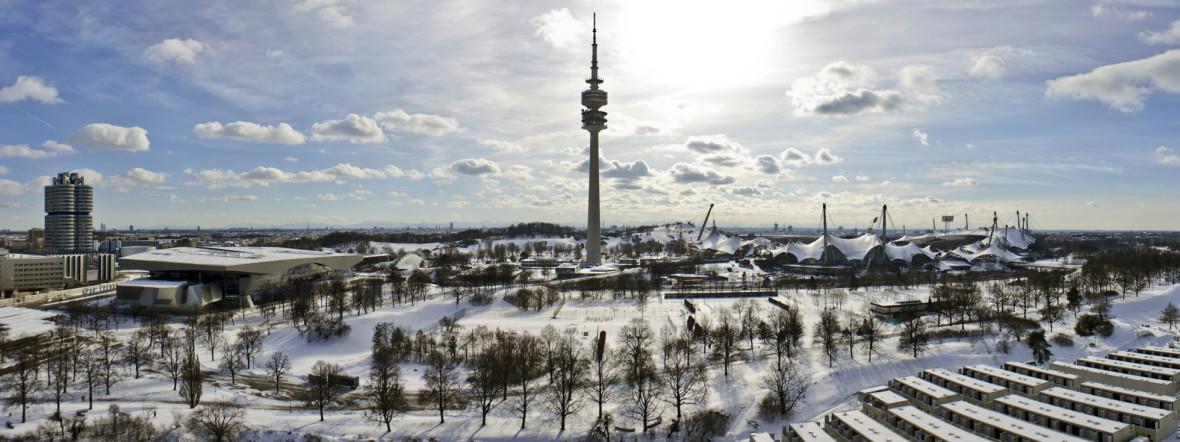 Der Olympiapark im Winter, Foto: Adamus / Fotolia.com