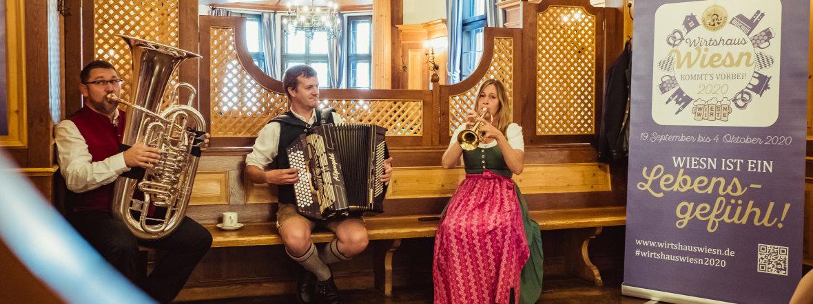 Musiker bei der WirtshausWiesn, Foto: Anette Göttlicher