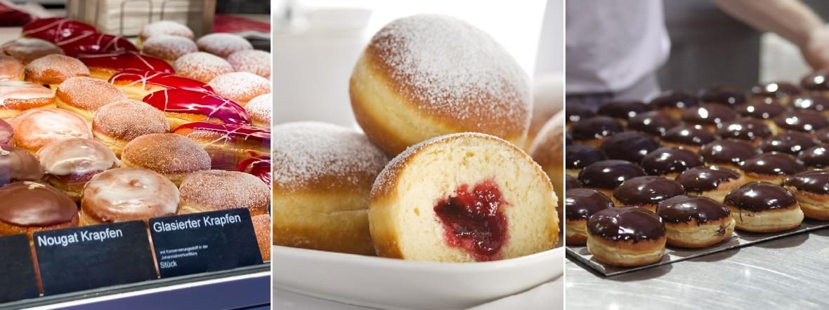 Krapfen aus Münchner Bäckereien
