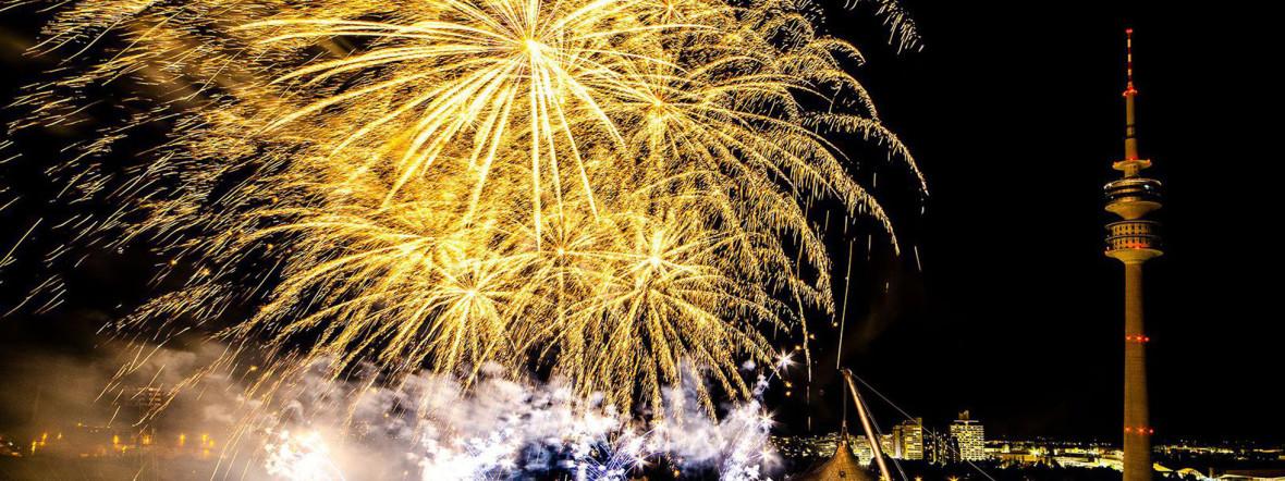 Feuerwerk über dem Olympiapark, Foto: Restaurant 181
