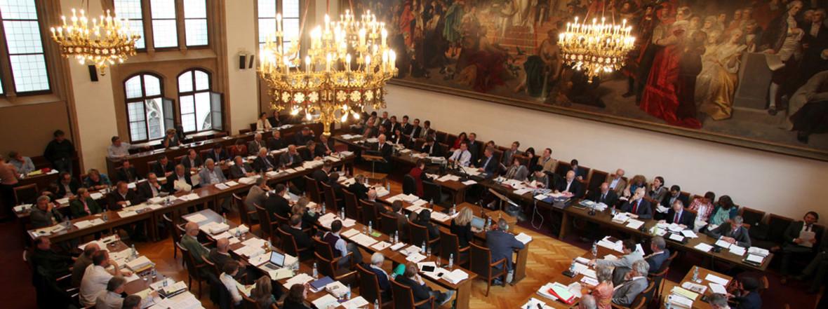 Plenum des Münchner Stadtrates, Foto: Presseamt München