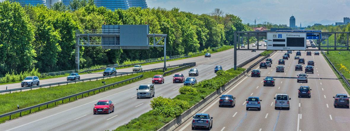 Autobahn München bei Fröttmaning, Foto: muenchen.de/Michael Hofmann