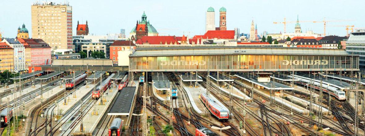 Das Gleisfeld des Hauptbahnhofs München, Foto: Uwe Miethe / Deutsche Bahn AG