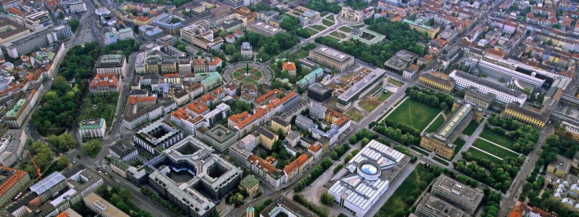 Das Kunstareal aus der Luft, Foto: Jürgen Reichmann