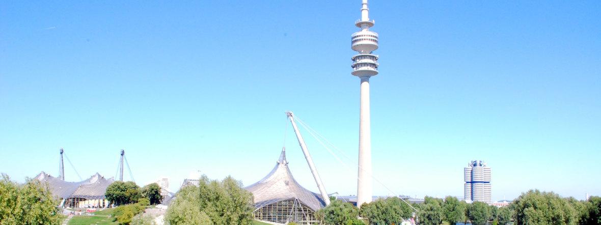 Der Olympiaturm im Olympiapark, Foto: muenchen.de / Michael Neißendorfer
