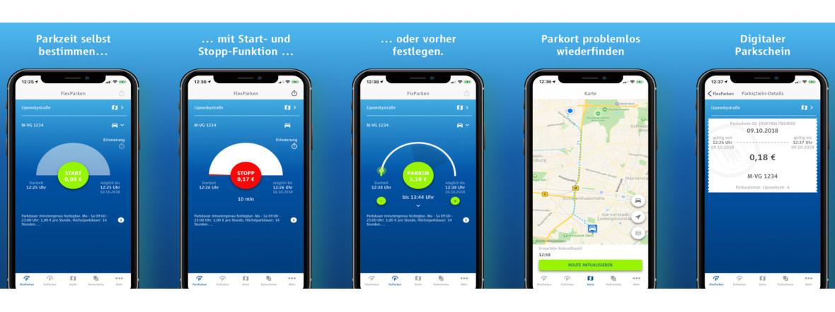 Mit der App HandyParken München digitale Parkscheine lösen , Foto: MVG