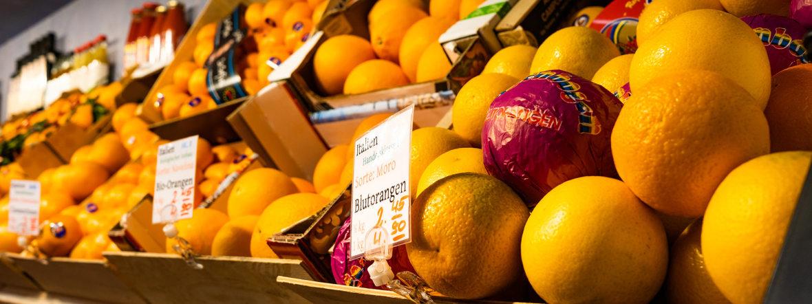 Orangen auf den Münchner Märkten , Foto: Anette Göttlicher