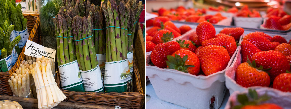 Spargel und Erdbeeren vom Pasinger Viktualienmarkt, Foto: Anette Göttlicher