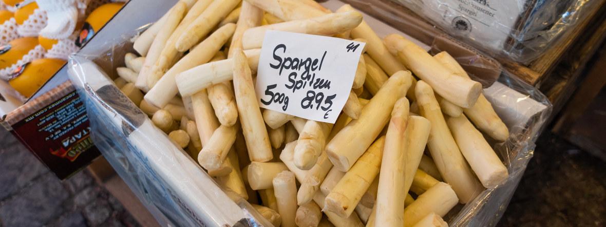 Spargelspitzen vom Pasinger Viktualienmarkt, Foto: Anette Göttlicher