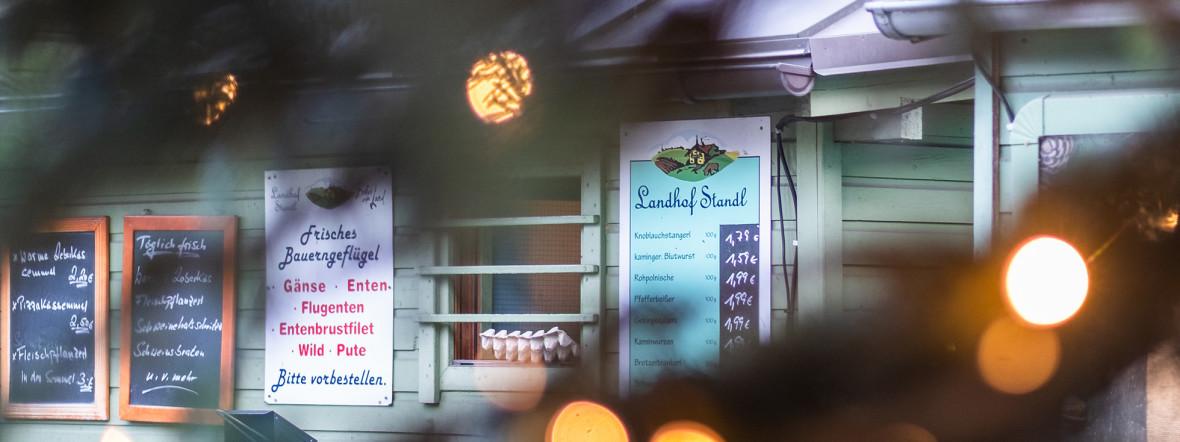 Auf dem Markt am Wiener Platz gibt's regionale Fleisch-Spezialitäten, Foto: Anette Göttlicher