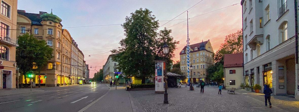 Der Wiener Platz mit dem historischen Markt in Haidhausen, Foto: Anette Göttlicher