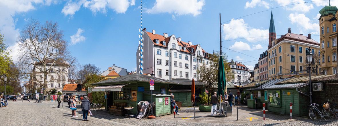 Der Wiener Platz in Haidhausen mit seinem Markt, Foto: Anette Göttlicher