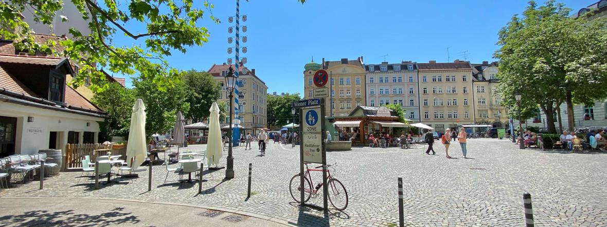 Wiener Platz mit Markt in Haidhausen, Foto: Anette Göttlicher