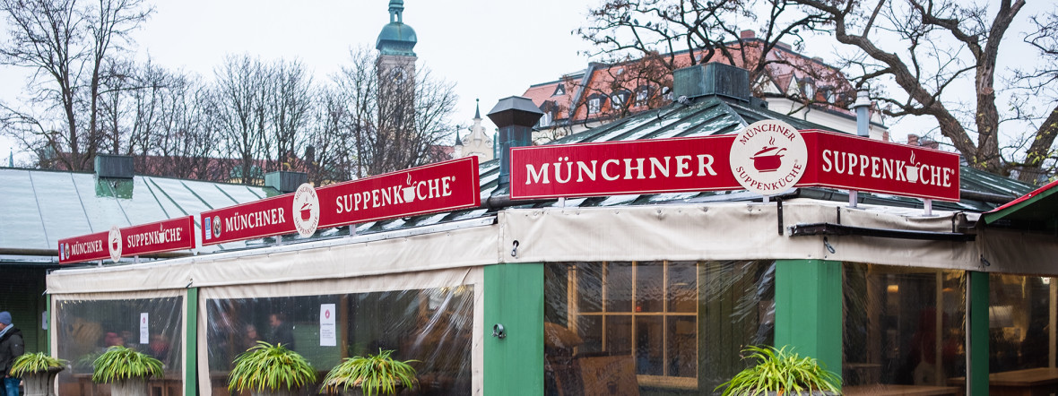 Die Münchner Suppenküche auf dem Viktualienmarkt, Foto: Anette Göttlicher