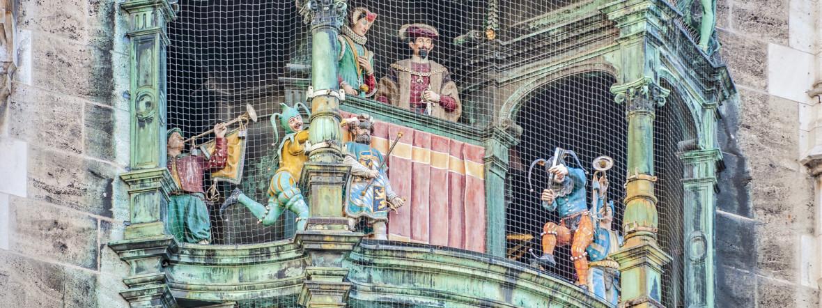 Das Glockenspiel am Münchner Rathaus, Foto: Shutterstock / Anibal Trejo
