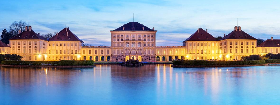 Schloss Nymphenburg bei Nacht