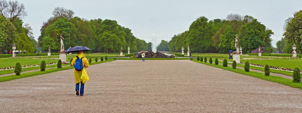 Regen im Nymphenburger Park
