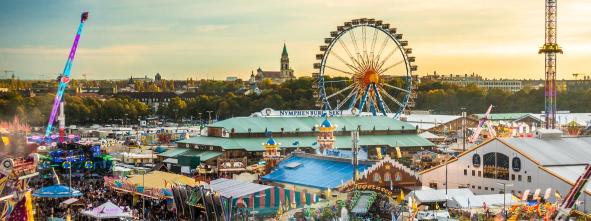 Oktoberfest - Blick über die Theresienwiese