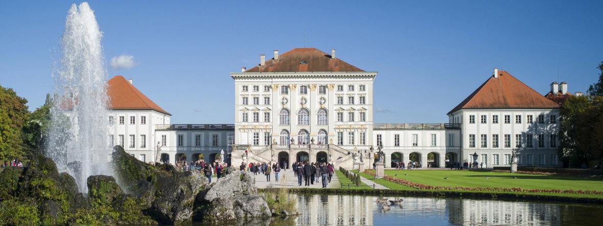 Schloss Nymphenburg vor See