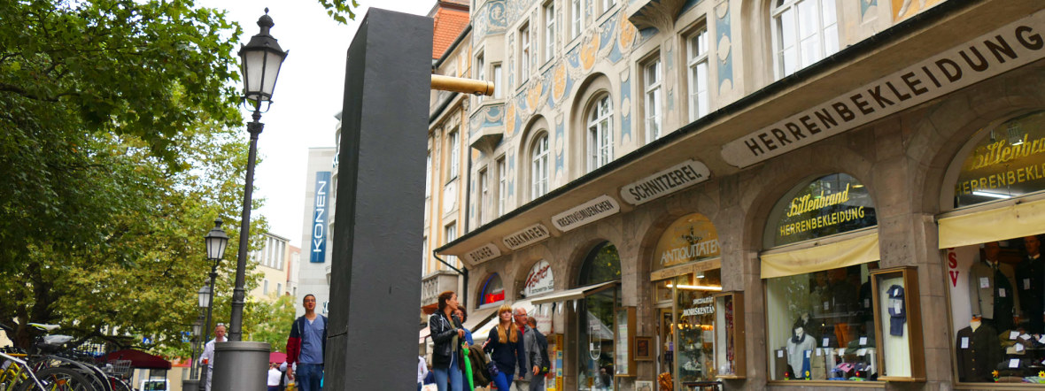 Trinkbrunnen am Rindermarkt, Foto: muenchen.de/Mark Read