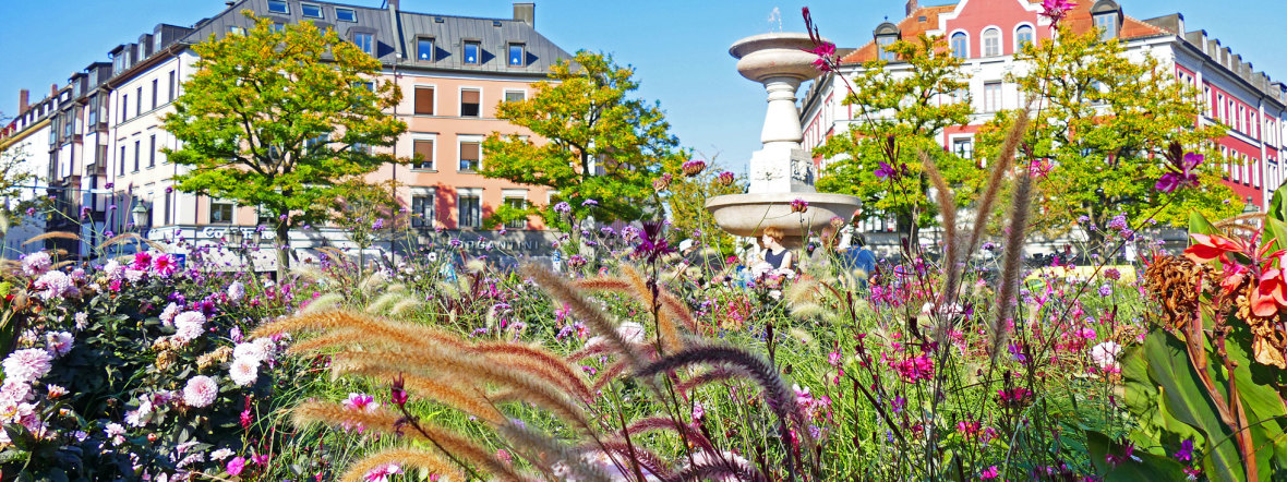 Gärtnerplatz im Herbst, Foto: muenchen.de/Leonie Liebich