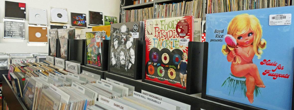 Plattenladen Optimal Records in München, Foto: muenchen.de / Leonie Liebich