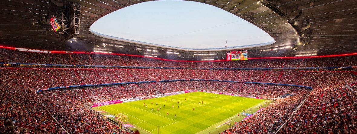 Fans bei einem Heimspiel des FC Bayern in der Allianz Arena, Foto: Allianz Arena / B. Ducke