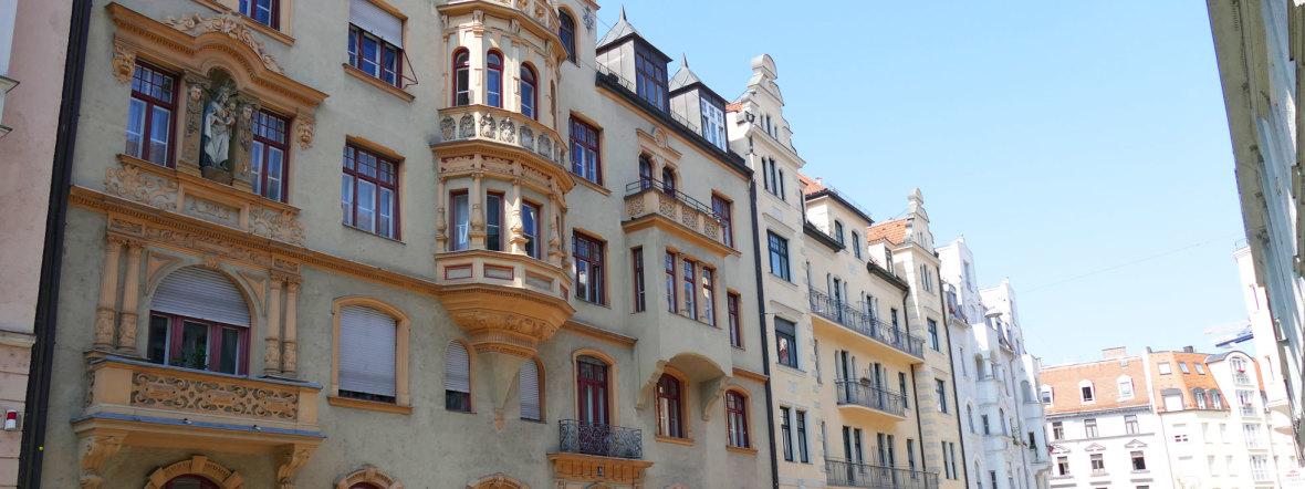 Fassaden in der Liebherrstraße im Lehel, Foto: muenchen.de/Mark Read