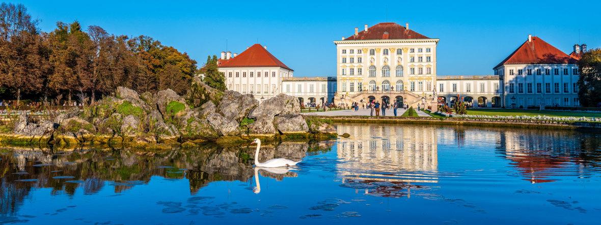 Nymphenburger Schloss im Herbst, Foto: muenchen.de/ Michael Hofmann