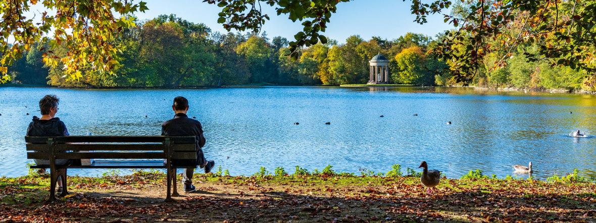 Schlosspark Nymphenburg mit See, Foto: muenchen.de/ Michael Hofmann